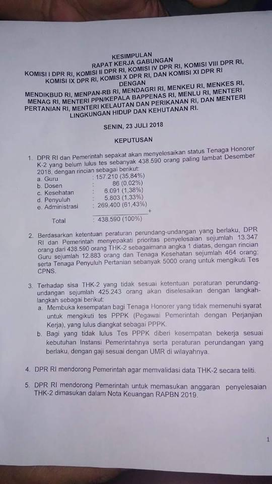 5 Keputusan Penting Hasil Rapat Gabungan DPR RI dan Pemerintah 23 Juli 2018