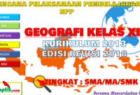 Download RPP Geografi Kelas XII K13 Revisi 2018