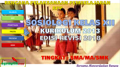 Download RPP Sosiologi Kelas XII K13 Revisi 2018