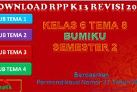 RPP K13 Kelas 6 Tema 8