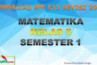 RPP MTK Kelas 5 Semester 1
