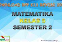 RPP MTK Kelas 5 Semester 2