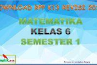 RPP MTK Kelas 6 Semester 1