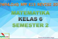 RPP MTK Kelas 6 Semester 2