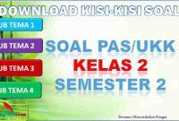 Kisi-kisi PAS/UKK Kelas 2 Semester 2