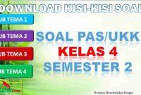 Kisi-kisi PAS/UKK Kelas 4 Semester 2