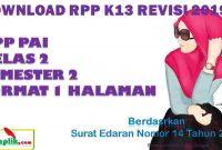 RPP PAI 1 Lembar Kelas 2 Semester 2