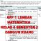 RPP 1 Lembar MTK Kelas 6 Semester 2 Bangun Ruang