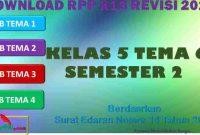 RPP 1 Lembar SD/MI Kelas 5 Semester 2 Tema 6