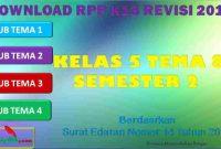 RPP 1 Lembar SD/MI Kelas 5 Semester 2 Tema 8