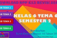 RPP 1 Lembar SD/MI Kelas 6 Semester 2 Tema 6