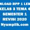 Download RPP 1 Lembar Kelas 3 Semester 1 Tema 4 Format Terbaru